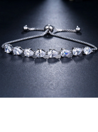 Ladies' Beautiful Alloy/Zircon Bracelets For Bride/For Bridesmaid/For Mother