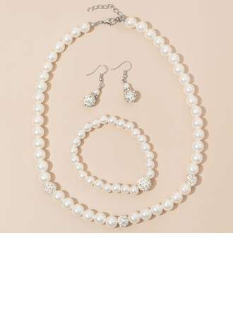 Elegante Liga/Strass/Falso pérola Senhoras Conjuntos de jóias