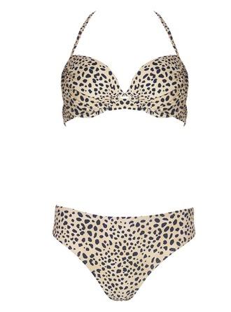 Beautiful Leopard Floral Bikini