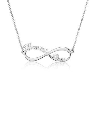 Custom Silver Infinity Two Name Necklace - Christmas Gifts