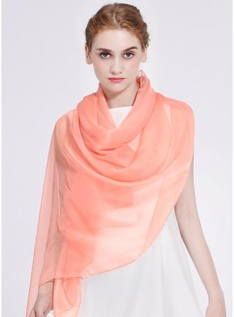 Solid färg Lättvikt/överdimensionerad/Sjal polyester Halsduk