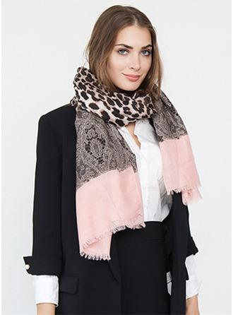 Leopard nadměrné velikosti/móda Polyester šály ()