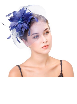 Dames Élégante Feather/Fil net avec Feather Chapeaux de type fascinator/Kentucky Derby Des Chapeaux