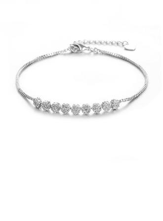 Деликатная цепь Свадебные браслеты с Цирконий - Валентина Подарки Для Нее