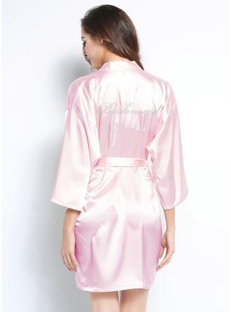 Personlig charmeuse brudtärna Rhinestone Robes