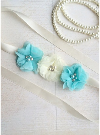 Elegant/Flower Girl Satin Sash With Headband