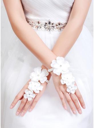 Fabric Wrist Length Bridal Gloves