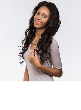 4A Non remy Loose Wavy Human Hair Full Lace Cap Wigs 170g