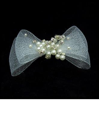 Moda Di faux perla/Tyll Pettine & clip di capelli