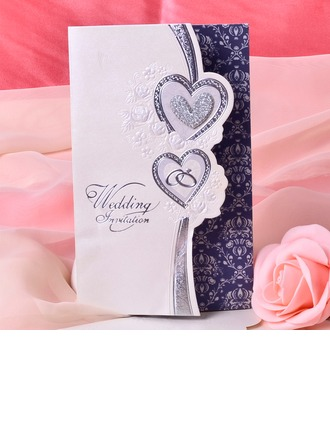 Stile Cuore Tri-Fold Invitation Cards (Set di 50)