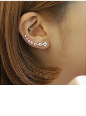 Vakkert Crystal sølv med Imitert Krystall Kvinner Fashion øredobber