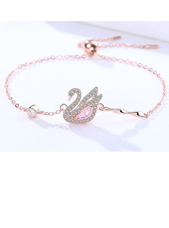 Delikat kæde Charmarmbånd Bolo armbånd med Swan -