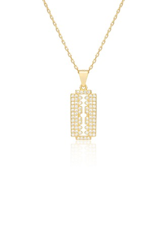 18k Gold Plated 18k Gold Plated Silver Pendant Necklace