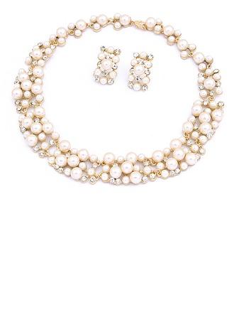 Elegante Aleación/Perla con Rhinestone Señoras' Sistemas de la joyería