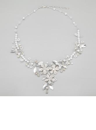 Tyylikäs Metalliseos jossa Kristalli/Valetaskua helmi Sonar Naisten Kaulakorut