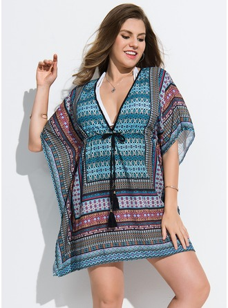 Elegant Colorful Polyester Cover-ups Swimsuit