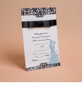 Tappning Färg/klassisk stil Enkla kort Invitation Cards med Färgband (Sats om 50)
