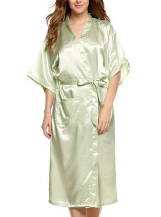 Nevěsta Družička Hedvábí S Po kolena Kimono roucho