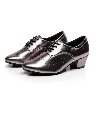 De mujer Cuero Salón Swing Entrenamiento con Cordones Zapatos de danza