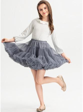 Corte De Baile/Princesa Corto/Mini Vestidos de Niña Florista - con Volantes