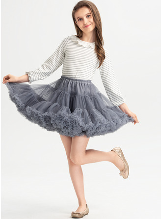 Ball-Gown/Princess Short/Mini Flower Girl Dress - With Ruffles
