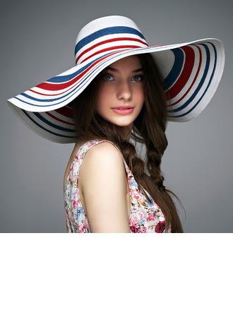 Ladies' Colorful Rattan Straw Floppy Hat/Straw Hat/Kentucky Derby Hats