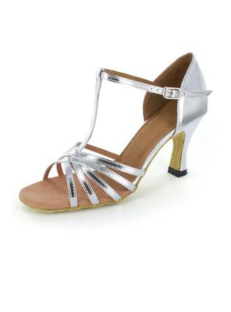 De mujer Cuero Tacones Danza latina Fiesta con Tira T Zapatos de danza