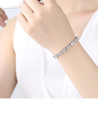 Simple Alloy/Zircon Ladies' Bracelets