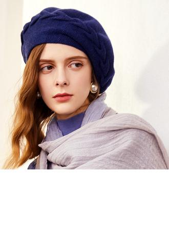 Ladies' Simple/Eye-catching/Charming Velvet/Nylon Beret Hats