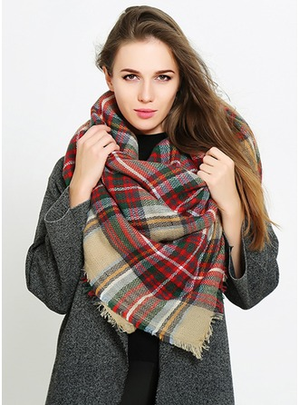 Color Block attractive/Cold weather Acrylic Scarf