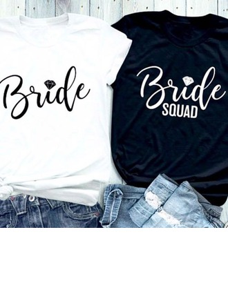 Bride Presenter - Sexig Enkel Bbomull T-shirt