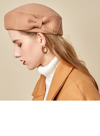 Señoras' Glamorosa/Encanto/Romántico Madera con Bowknot Boina Sombrero