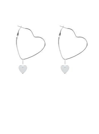 Heart Shaped Alloy Women's Fashion Earrings (Sold in a single piece)