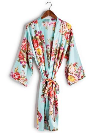 charmeuse Brud Brudepige Mor Floral Robes