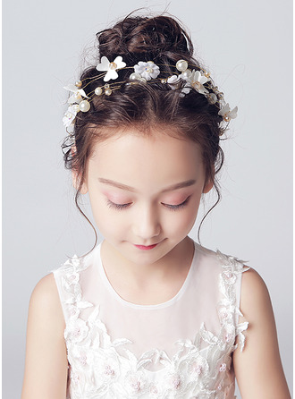 Alloy/Crystal With Flower Headbands