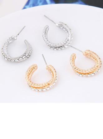 Einzigartig Legierung Strasssteine Frauen Art-Ohrringe