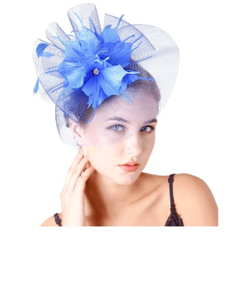 Dames Jolie Feather/Fil net avec Feather Chapeaux de type fascinator/Chapeaux Tea Party