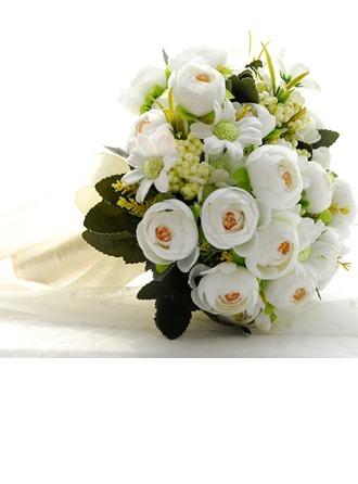 Élégante Rond Tissu/PE Bouquets de mariée -