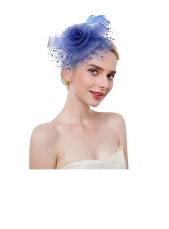 Dames Klassiek/Elegant/Het oog Springende Feather/Netto garen met Feather Fascinators