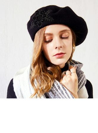 Bayanlar Glamourous/Klasik/Şık Yün Bere Şapka