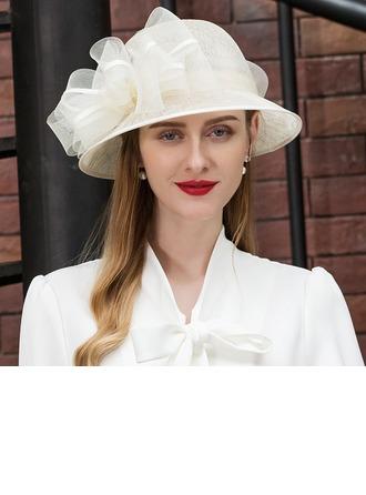 Señoras' Moda/Especial/Glamorosa/Elegante/Único/Llamativo/Fantasía/Alta calidad Batista con Flor Boina Sombrero