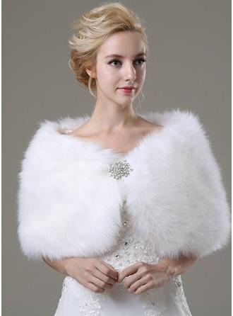 Faux Fur Mode Sjaal