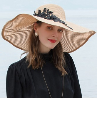 Signore Affascinante/Stile classico/Elegante/Semplice/Nizza Poliestere Beach / Sun Cappelli