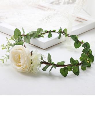 Elegante Redondo Cetim Decorações/mantilha Flor (Vendido em uma única peça) - mantilha Flor
