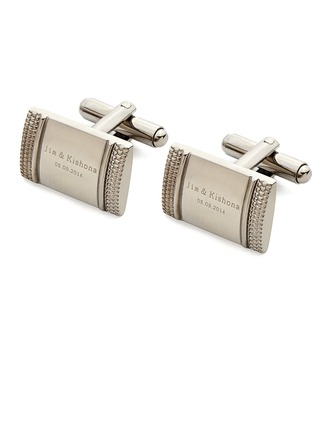 Personalized Classic Style Stainless Steel Cufflinks (Each line does not exceed 20 letters)
