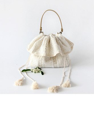 Elegant Cotton Clutches/Top Handle Bags/Bridal Purse