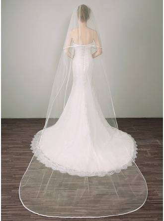 Two-tier Ribbon Edge Cathedral Bridal Veils