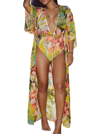 Sexy Polyester Une seule pièce Cover-ups