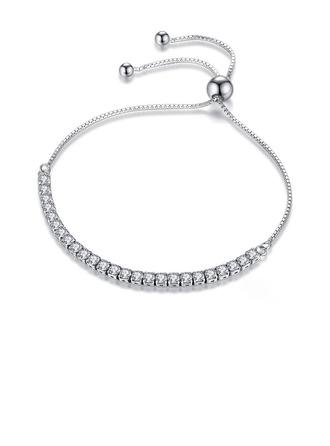 Geplatineerd Fijne ketting Bruids armbanden Bolo armbanden met Kubieke Zirkonia - Valentijnsgeschenken Voor Haar