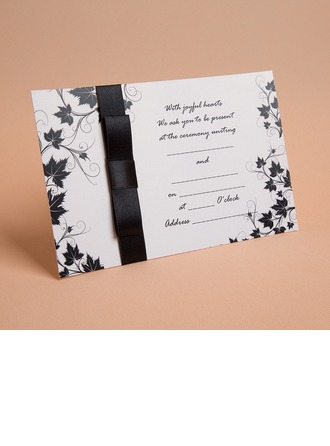 klassisk stil Enkla kort Invitation Cards med Färgband (Sats om 10)